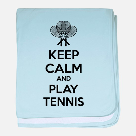 Keep calm and play tennis baby blanket