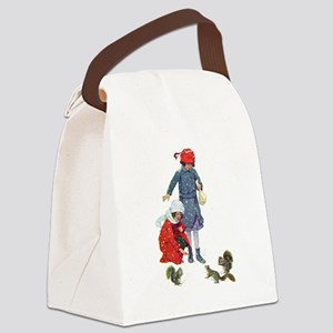 Squirrels in the snow031x Canvas Lunch Bag