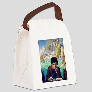 BOOK_AN_ADVENTURE_sq Canvas Lunch Bag