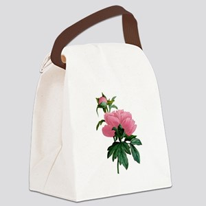 Redoute_PINK_Peony Canvas Lunch Bag