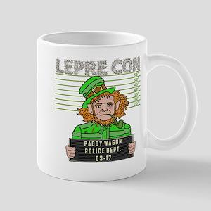 Funny Leprechaun Mugshot Mug