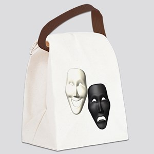 MASKS OF COMEDY & TRAGEDY Canvas Lunch Bag
