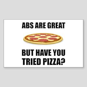 Abdominals Pizza Sticker