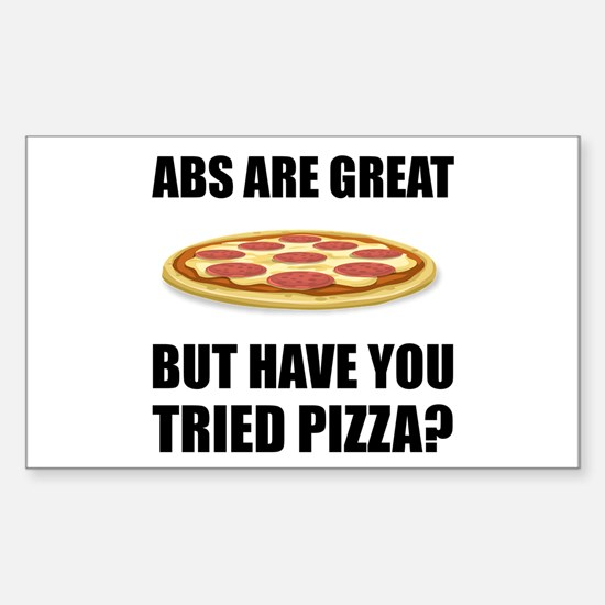 Abdominals Pizza Decal
