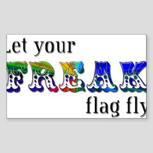 Freak Flag Rectangle Sticker