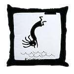Kokopelli Diver Throw Pillow