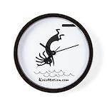 Kokopelli Diver Wall Clock