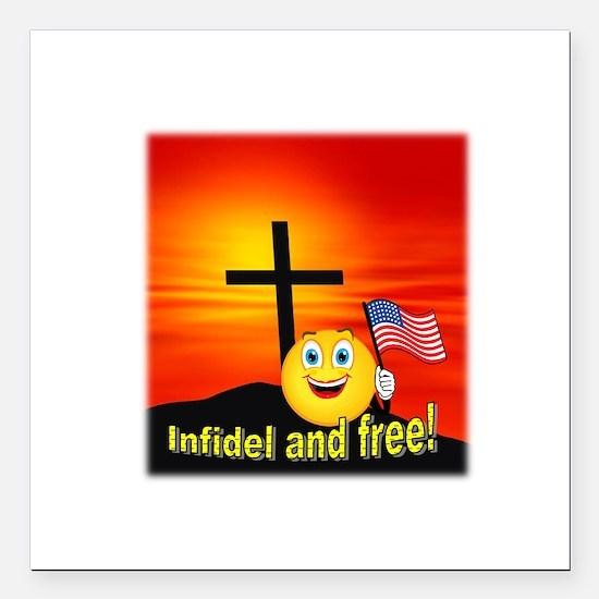 "Proud Christian Square Car Magnet 3"" x 3"""