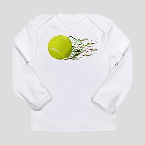 Tennis Ball Flames Artistic US Open Wimbleton Long