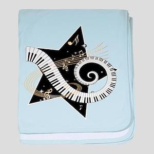 Musical star baby blanket