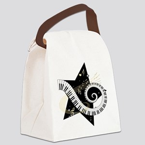 Musical star Canvas Lunch Bag