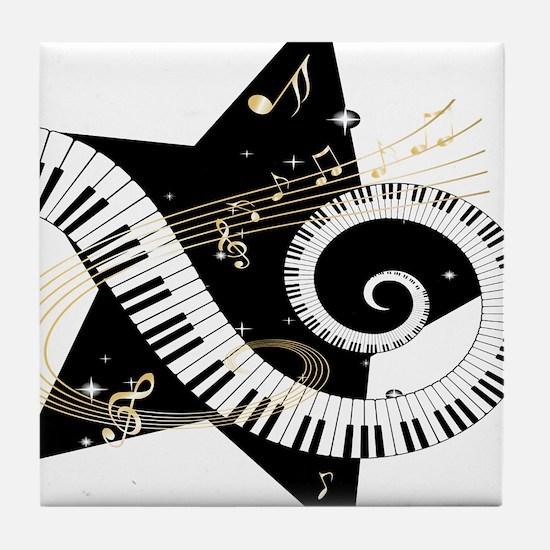 Musical star Tile Coaster