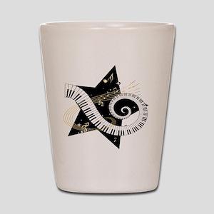Musical star Shot Glass