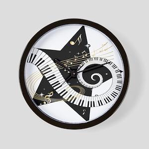 Musical star Wall Clock