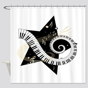 Musical star Shower Curtain