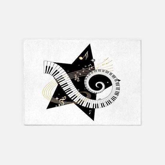 Musical star 5'x7'Area Rug