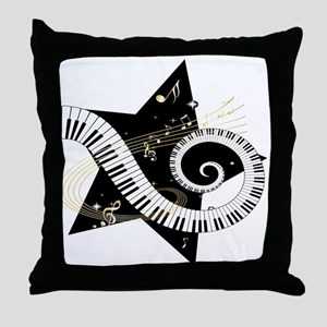 Musical star Throw Pillow