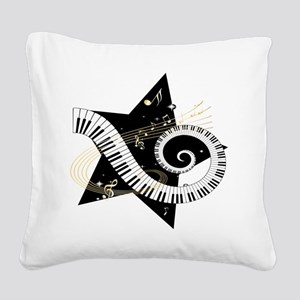Musical star Square Canvas Pillow