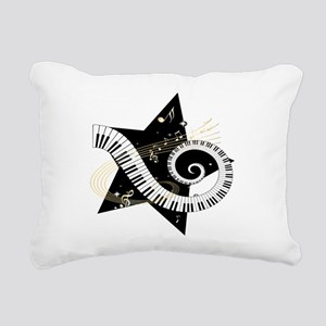 Musical star Rectangular Canvas Pillow