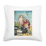 The Little Mermaid Square Canvas Pillow