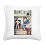 The Naughty Boy Square Canvas Pillow