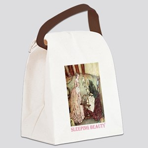 Sleeping Beauty2_PINK Canvas Lunch Bag
