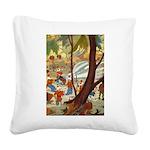 Tennie Weenies084 Square Canvas Pillow