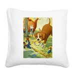 Tennie Weenies085 Square Canvas Pillow