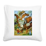 Tennie Weenies089 Square Canvas Pillow