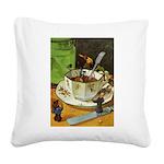 Tennie Weenies088 Square Canvas Pillow