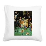 The Goose Girl Square Canvas Pillow
