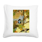 Tennie Weenies080 Square Canvas Pillow