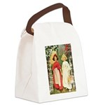 Snow White and Rose Red Canvas Lunch Bag