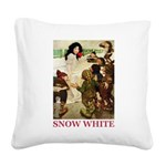 Snow White 2 RED Square Canvas Pillow