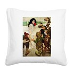 Snow White Square Canvas Pillow