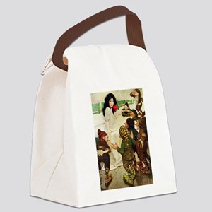 Snow White Canvas Lunch Bag