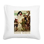 Snow White 2 GOLD Square Canvas Pillow