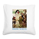 Snow White 2 BLUE Square Canvas Pillow