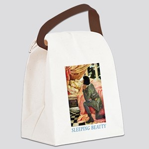 Sleeping Beauty_blue Canvas Lunch Bag