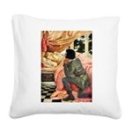 Sleeping Beauty Square Canvas Pillow