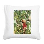 Jack and the Beanstalk Square Canvas Pillow