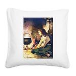 Cinderella Square Canvas Pillow