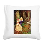 Babes in the Wood Square Canvas Pillow