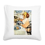 Breakfast Buddies Square Canvas Pillow