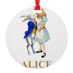 ALICE AND RABBIT 2 GOLD copy Round Ornament