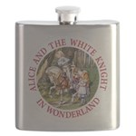 ALICE AND THE WHITE KNIGHT_RED copy Flask