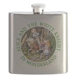ALICE AND THE WHITE KNIGHT_GREEN copy Flask
