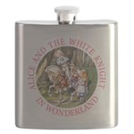 ALICE AND THE WHITE KNIGHT_PINK copy Flask