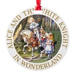 ALICE AND THE WHITE KNIGHT_GOLD copy Round Orn
