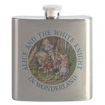 ALICE AND THE WHITE KNIGHT_BLUE copy Flask